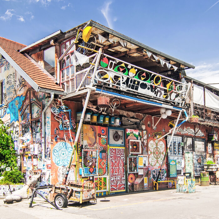 Metelkova City and street art