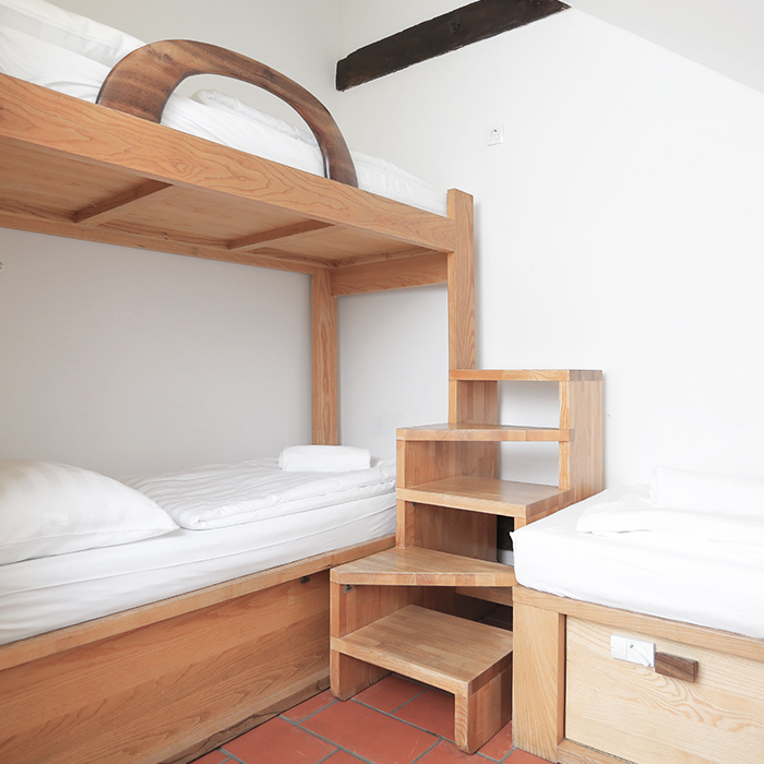 Beds in shared rooms